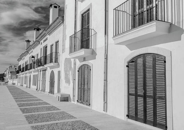Photograph - Altafulla Spain Bw by Joan Carroll