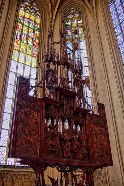 Photograph - Altar Of The Holy Blood - St. Jakob's Church by Lucinda Walter