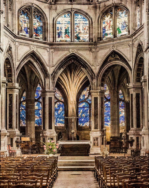 Photograph - Paris, France - Altar - Saint-severin by Mark Forte