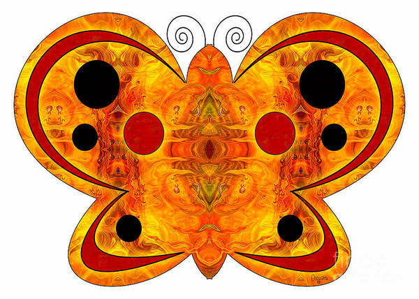 Digital Art - Alternate Realities And Abstract Butterflies By Omashte by Omaste Witkowski