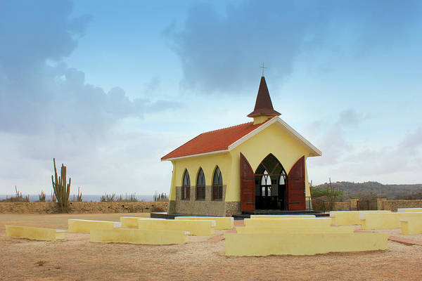Desert Mixed Media - Alto Vista Chapel Of Aruba by Design Turnpike