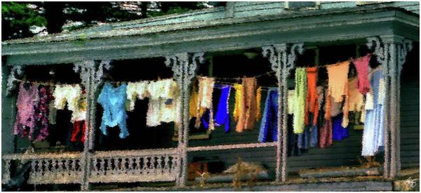 Photograph - Alton Porch Wash Line No 1 by Wayne King