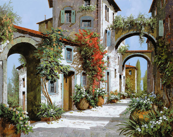 Tuscany Landscape Wall Art - Painting - Altri Archi by Guido Borelli