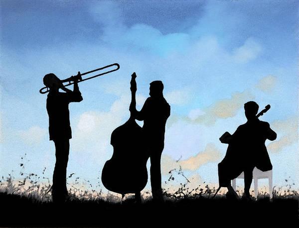 Mardi Gras Wall Art - Painting - Altro Trio by Guido Borelli