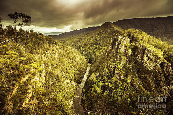 Mountain Range Photograph - Alum Cliffs, Tasmania, Australia by Jorgo Photography - Wall Art Gallery