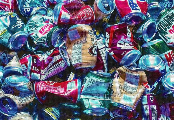 Aluminum Cans - Recyclables Art Print by Steve Ohlsen
