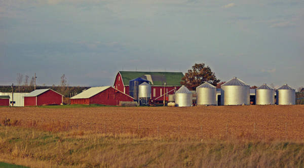 Silo Photograph - Aluminum Farm Silos by Garth Glazier