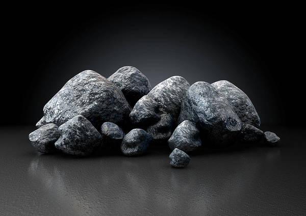 Mound Digital Art - Aluminum Nugget Collection by Allan Swart