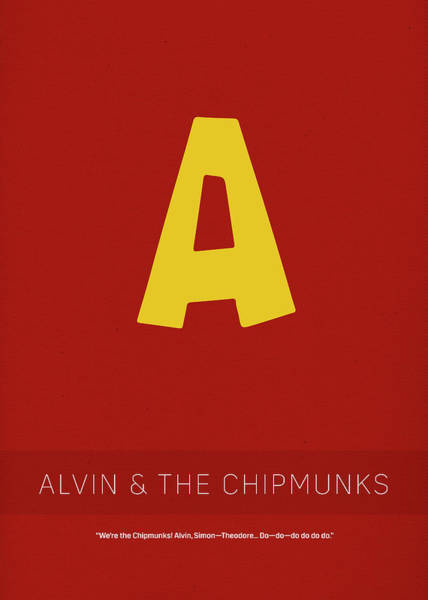 Chipmunk Wall Art - Mixed Media - Alvin And The Chipmunks My Favorite Tv Shows Series 011 by Design Turnpike