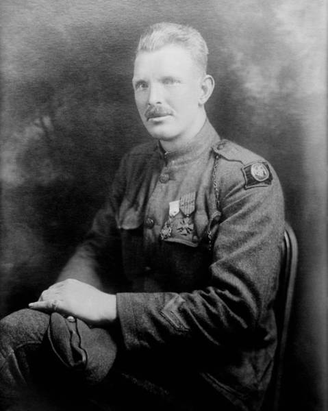 Medal Of Honor Photograph - Alvin York - World War I Portrait by War Is Hell Store