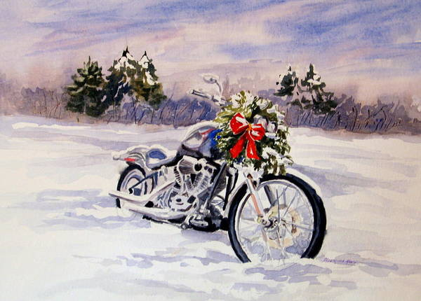 Harley Davidson Painting - Always A Good Day For A Ride by Vikki Bouffard