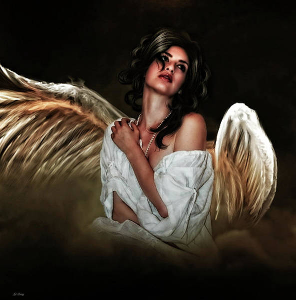 Impression Mixed Media - Always An Angel by G Berry