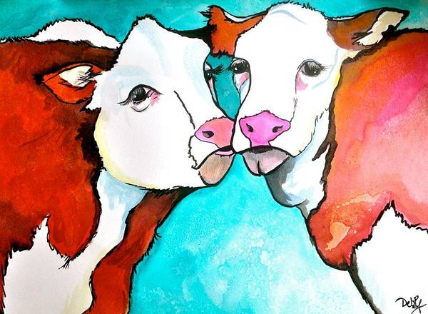 Interaction Painting - Always Kiss Me Goodnight by Debi Starr
