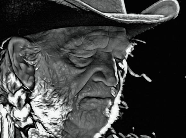 Wall Art - Digital Art - Always On My Mind, Willie Nelson by Mal Bray