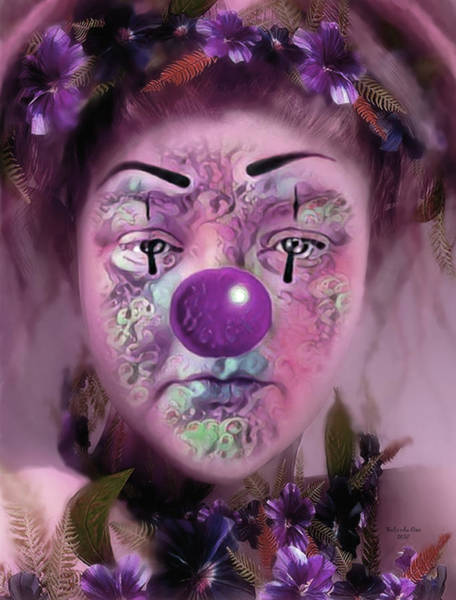 Digital Art - Always Playing The Clown by Artful Oasis