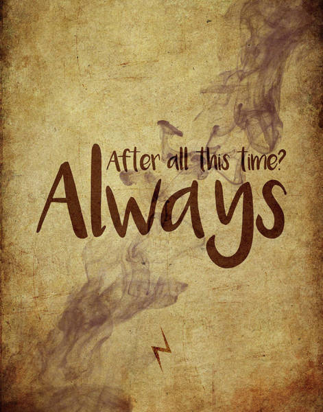 Snape Wall Art - Digital Art - Always by Samuel Whitton