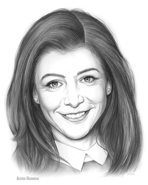 Actress Drawing - Alyson Hannigan by Greg Joens