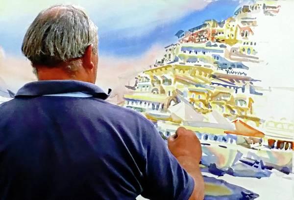 Digital Art - Amalfi Coast Street Artist - Positano, Italy by Joseph Hendrix