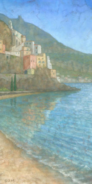 Townscape Wall Art - Painting - Amalfi by Steve Mitchell