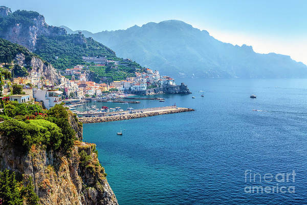 Wall Art - Photograph - Amalfi Town On The Mediterranean Sea by George Oze
