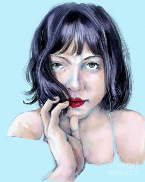 Digital Art - Amanda by Lora Serra