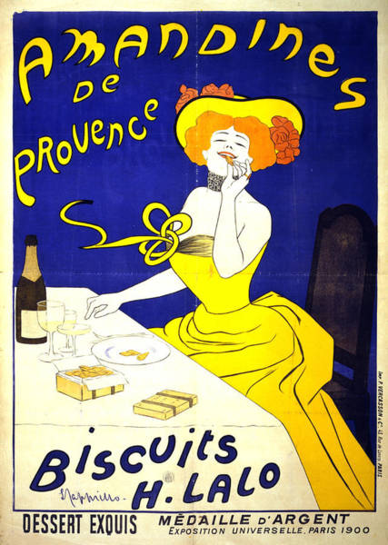 Wall Art - Mixed Media - Amandines De Provence - Biscuits - Vintage Advertising Poster by Studio Grafiikka
