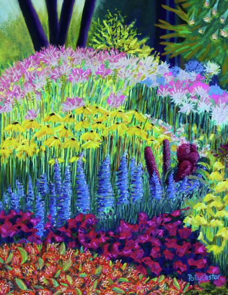 Painting - Amaranth In The Gardens At Hollandia by Polly Castor