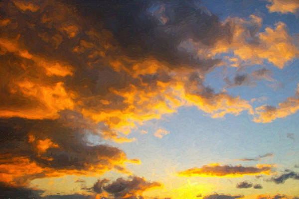 Ft Worth Wall Art - Painting - Amarillo Golden Sunset by Jeff Steed