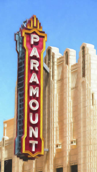 Wall Art - Photograph - Amarillo Paramount Theatre - #3 by Stephen Stookey