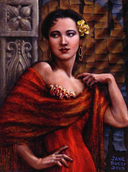 Latina Painting - Amarillo Rose by Jane Bucci