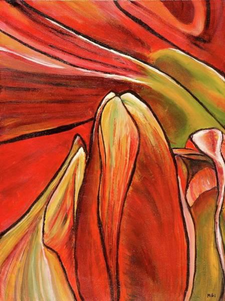 Amaryllis Painting - Amaryllis 1 by Miki Sion