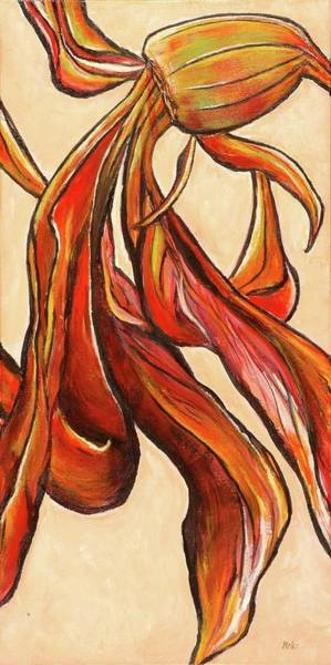 Amaryllis Painting - Amaryllis Bulb by Miki Sion