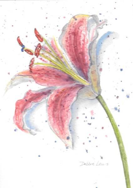 Painting - Amaryllis by Debbie Lewis