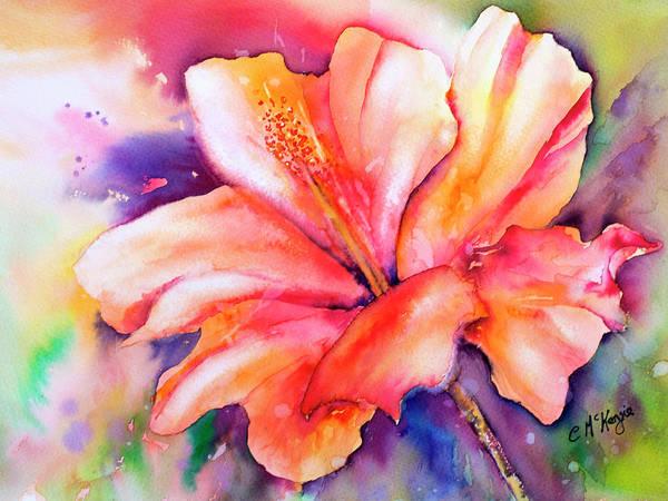 Amaryllis Painting - Amaryllis Flower by Carrie McKenzie