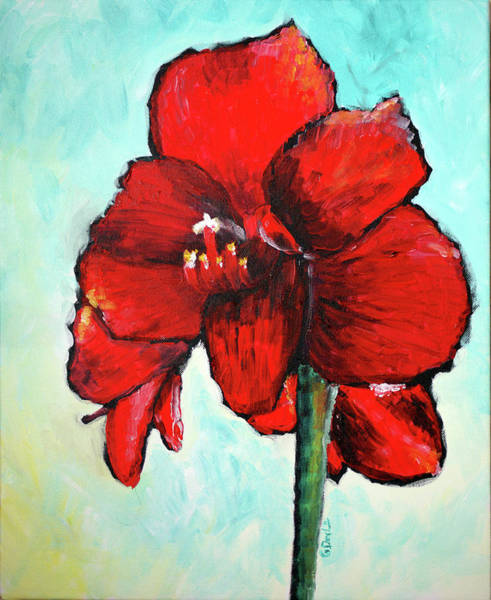 Red Amaryllis Painting - Amaryllis by Gary Deslauriers
