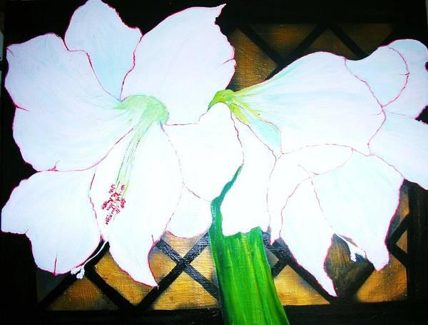Amaryllis Painting - Amaryllis by Hannelore Amon