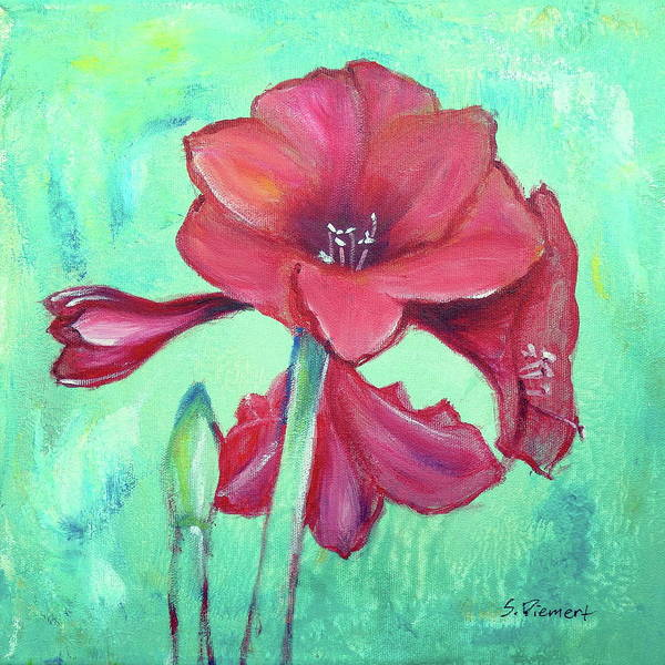 Amaryllis Painting - Amaryllis IIi by Sheila Diemert