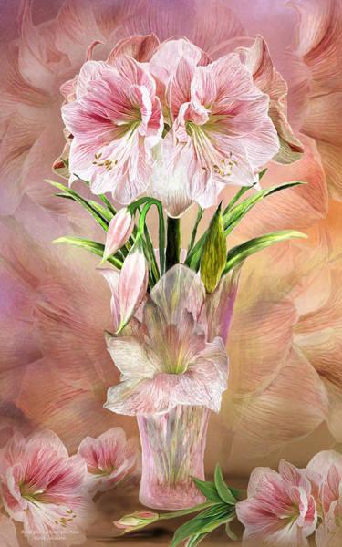 Mixed Media - Amaryllis In Amaryllis Vase by Carol Cavalaris