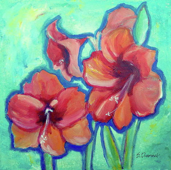 Amaryllis Painting - Amaryllis Iv by Sheila Diemert