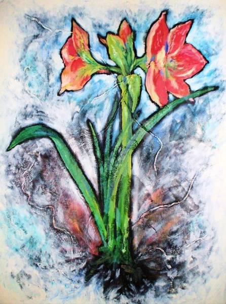 Amaryllis Painting - Amaryllis by Jennifer Bonset