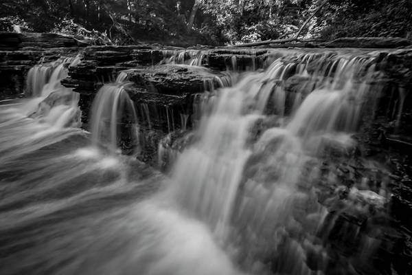 Photograph - Amazing Black And White Waterfall Scene by Sven Brogren