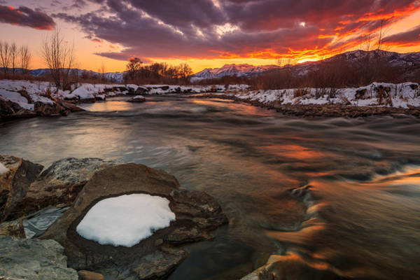 Awe Photograph - Amazing Dusk Sky At The Provo River. by Johnny Adolphson