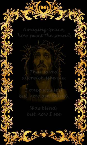 Digital Art - Amazing Grace A Christian Hymn  by Movie Poster Prints