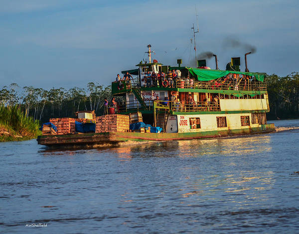 Photograph - Amazon Boat Don Jose by Allen Sheffield