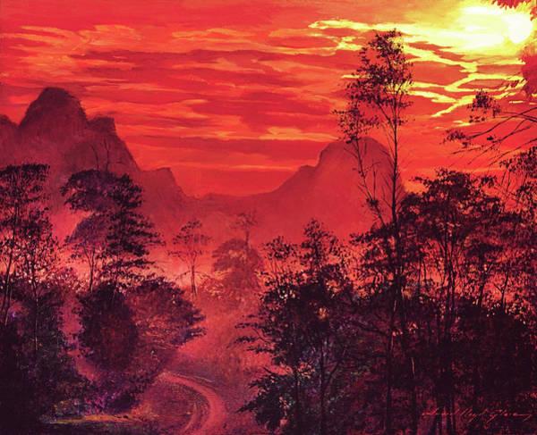 Wall Art - Painting -  Amazon Sunset by David Lloyd Glover