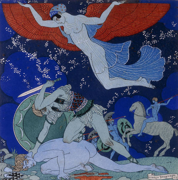 Tits Painting - Amazons by Georges Barbier
