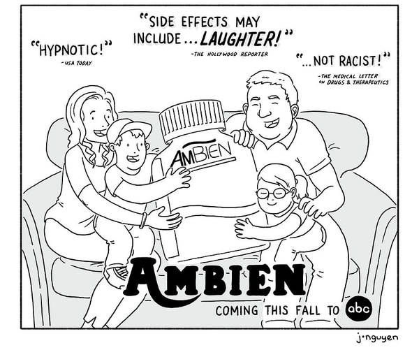 Side Effects Drawing - Ambien Coming This Fall To Abc by Jeremy Nguyen