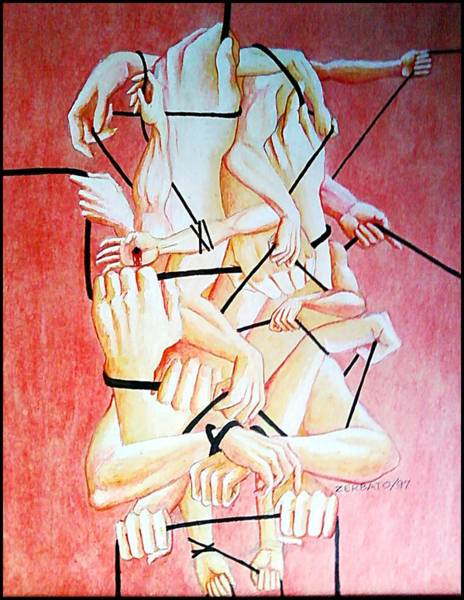 Destructive Painting - Ambition by Paulo Zerbato
