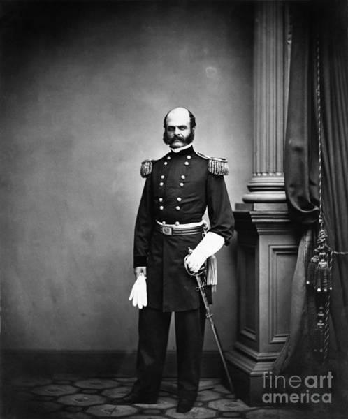 Mathew Photograph - Ambrose Burnside, Union General by LOC/Photo Researchers