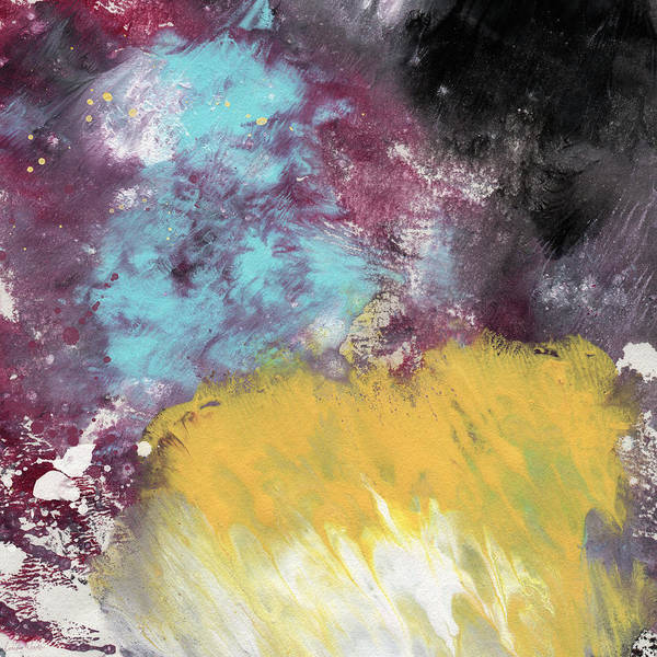 Yellow And Blue Painting - Ambrosia 5- Abstract Art By Linda Woods by Linda Woods